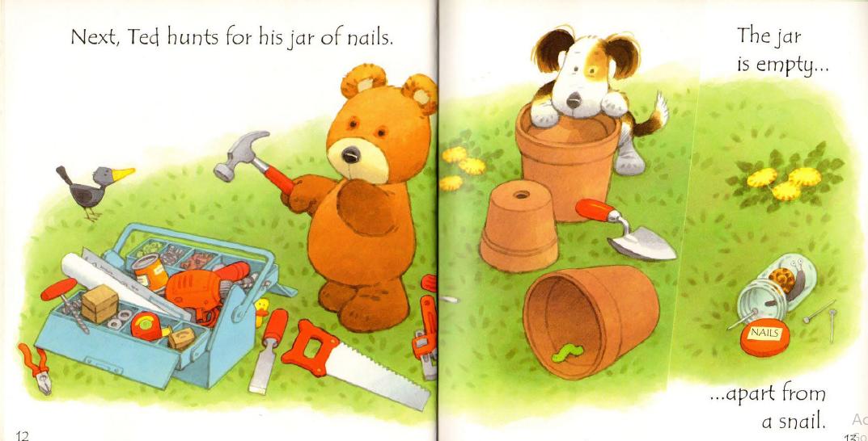 قصة قصيرة بالانجليزي للاطفال تد يصنع منزله ستوري زون